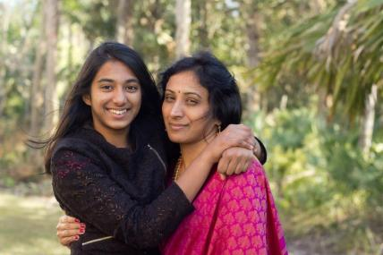 Sageeth and daughter Sneha
